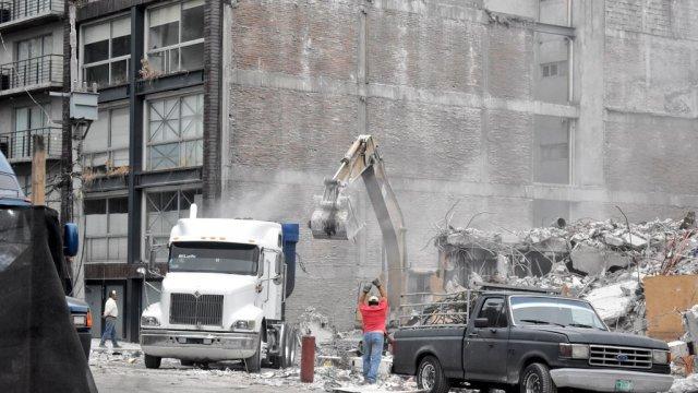 Ruta del cascajo y escombro por sismo 19S