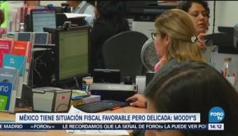 Situación fiscal en México es estable, pero delicada: Moody's