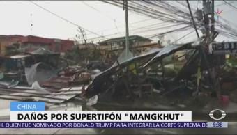 Tifón Mangkhut deja más de 60 muertos en Filipinas