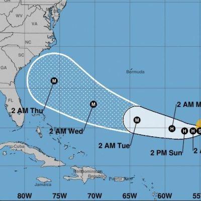 Tormenta tropical 'Florence' se convertirá en huracán el domingo en medio Atlántico