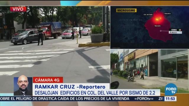 Tras sismo, se normalizan actividades en colonia Del Valle
