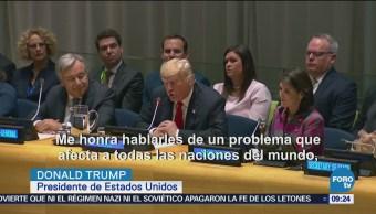 Trump pide operación internacional contra drogas
