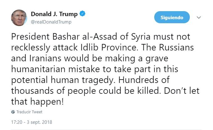 Rusia bombardea Idlib y Hama