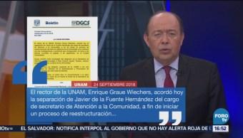 UNAM alista reestructura del área de vigilancia