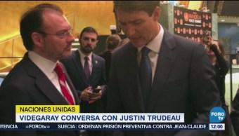 Videgaray conversa con Justin Trudeau