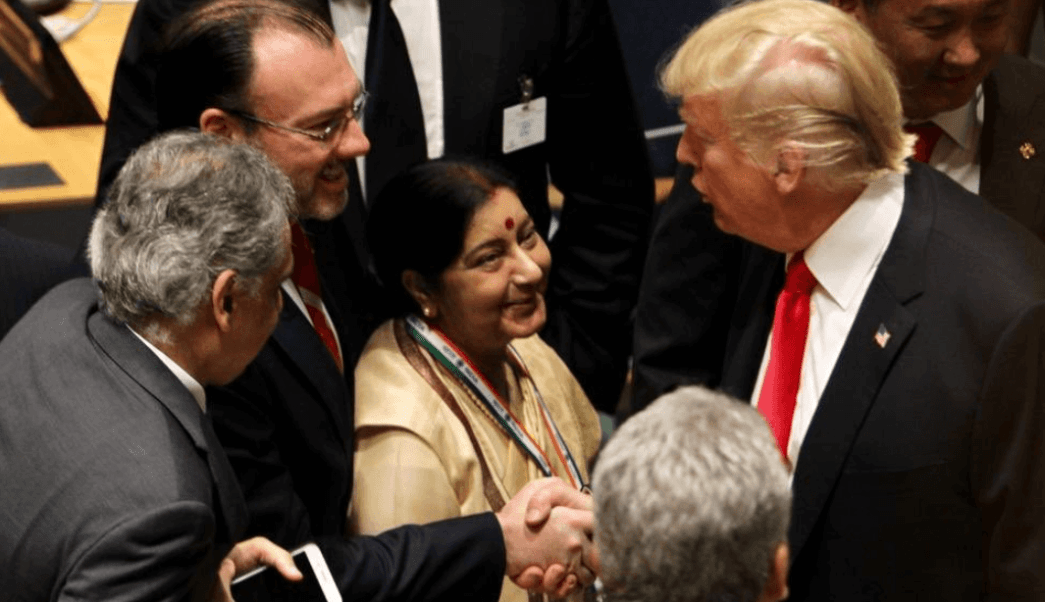 Videgaray coincide con Trump durante evento en la ONU