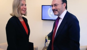 Luis Videgaray se reúne con alta representante de la UE