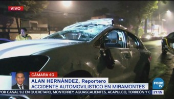 Vuelca Automóvil Avenida Miramontes Accidente Automovilístico