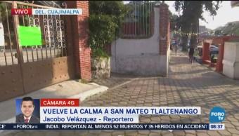 Vuelve la calma a San Mateo Tlaltenango