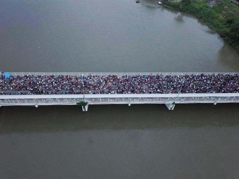 Migrantes hondureños aceptan regresar de forma voluntaria