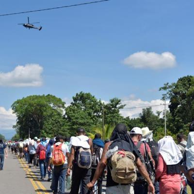 Migrantes de El Salvador, Guatemala y Nicaragua se unen a caravana de hondureños