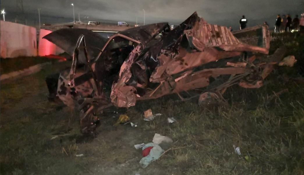 Accidente en la autopista México Pachuca deja dos muertos