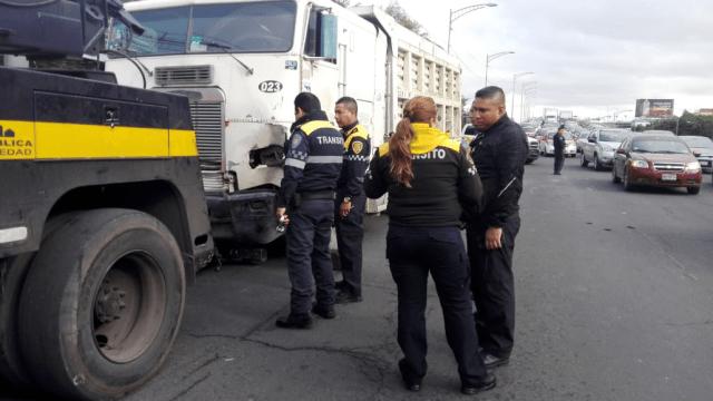 camion volteo carambola venustiano carranza accidente