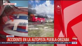 Accidente Múltiple Autopista Puebla Orizaba