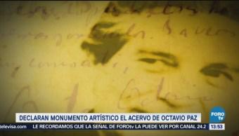 Acervo de Octavio Paz es declarado monumento artístico
