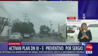 Activan Plan DN III – E preventivo por tormenta 'Sergio' en Guaymas
