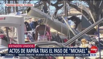 Actos de rapiña tras los daños ocasionados por Michael