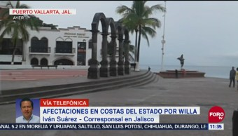 Afectaciones en costas de Jalisco por huracán Willa