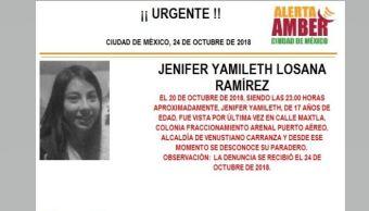 Alerta Amber para localizar a Jenifer
