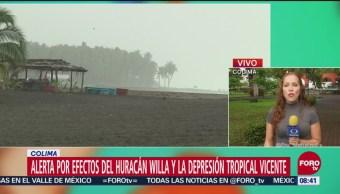 Alerta en colima por huracán 'Willa' y tormenta 'Vicente'