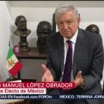 AMLO pide a opositores adaptarse a la nueva realidad del país