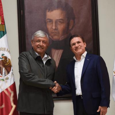 AMLO se reúne con el gobernador de Durango, José Rosas Aispuro