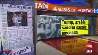 Análisis de las portadas nacionales e internacionales del 15 de octubre de 2018