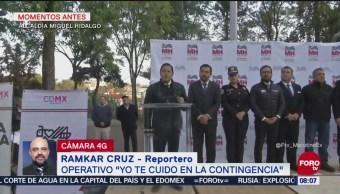 Anuncian operativo de seguridad en la alcaldía Miguel Hidalgo