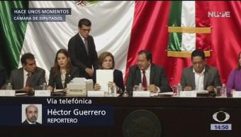 Arely Gómez comparece ante la Cámara de Diputados