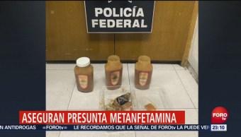 Aseguran Metanfetaminas Frascos Cajeta Aicm