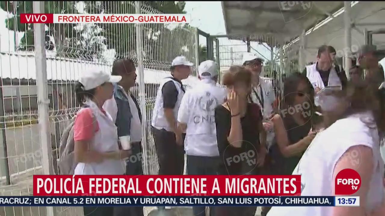 Atienden a personas lesionadas de caravana migrante
