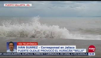 Aumenta Oleaje Bahía Banderas Jalisco Efecto Willa