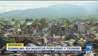 Aumentan a 1,424 los muertos por sismo y tsunami en Indonesia