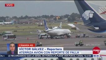 Avión con reporte de falla aterrizó por precaución