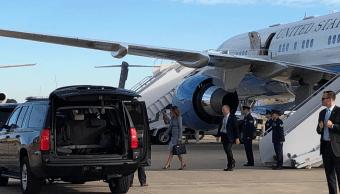 Avión con Melania Trump, aterriza de emergencia por humo
