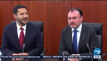 Batres y Videgaray hablan sobre el formato de comparecencia