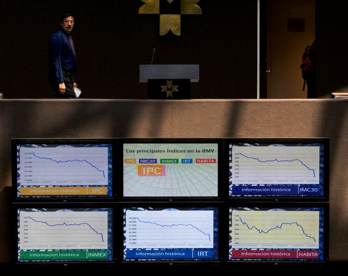 Bolsa Mexicana de Valores abre con baja de 0.80%