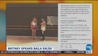 Britney Spears baila salsa en video viral