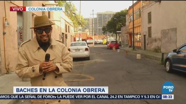 Bryan Mendoza denuncia baches en la colonia Obrera
