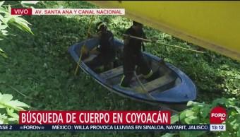 Buscan cadáver en Canal Nacional, alcaldía Coyoacán