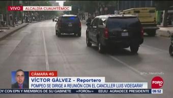 Caravana de Mike Pompeo atraviesa Paseo de la Reforma