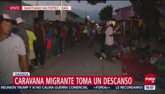 Caravana migrante avanzará a Juchitán, Oaxaca