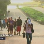 Caravana migrante continúa su avance