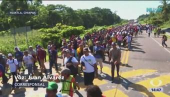 Caravana migrante continúa su camino