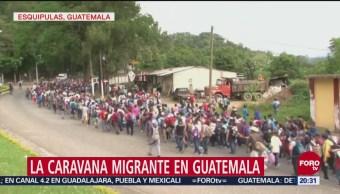Caravana Migrante Continua Camino Guatemala Trump