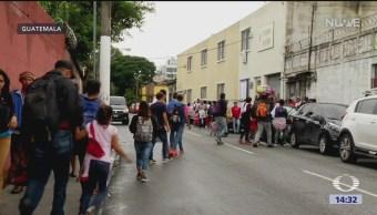 Caravana migrante continúa su viaje a México