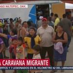 Caravana migrante decidirá el camino que tomará para avanzar