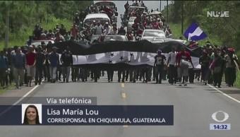 Caravana migrante llega a Guatemala