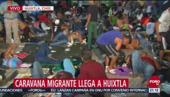 Caravana Migrante Llega Huixtla Chiapas Migrantes