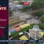 Caravana migrante recorre 100 k hasta Arriaga
